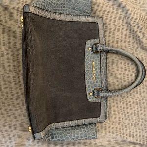 Micheal Kors blue snakeskin purse